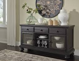 Dining Room Buffet Intended For Gorgeous Server Sharlowe Charcoal Prepare 5