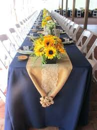 Burlap Table Setting Ideas Bright Sunflower Wedding Decoration For Your Rustic