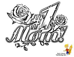 Mom Coloring Pages Love