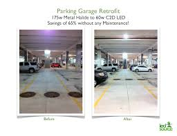 parking garages and led lighting the combination