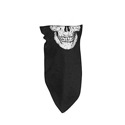 Zanheadgear BVF002 Fleece Lined 3-in-1 Bandanna, Skull
