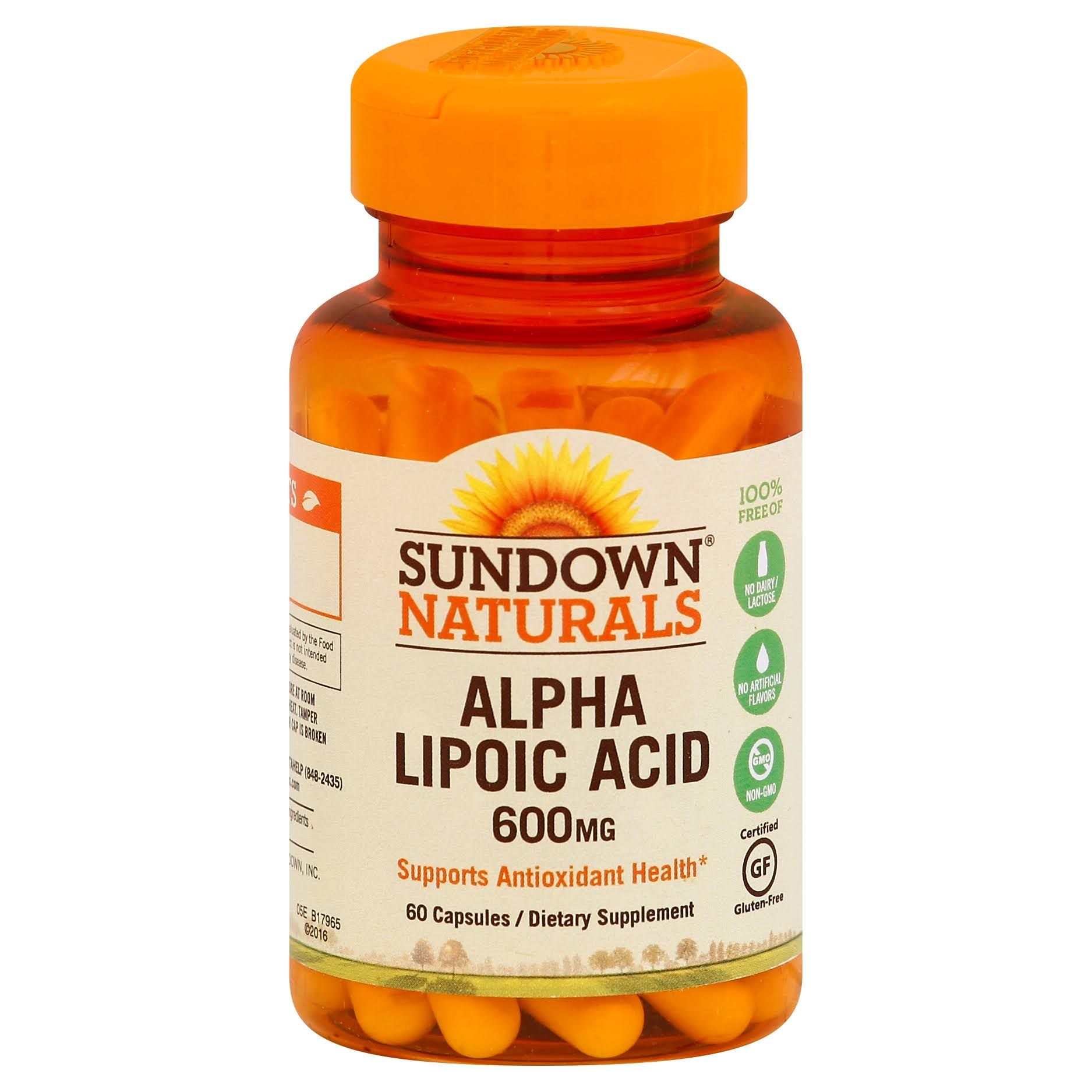 Sundown Naturals Super Alpha Lipoic Acid - 600mg, 60 Capsules