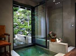 View In Gallery Fabulous Contemporary Bathroom That Is Connected With The Natural Landscape Outside