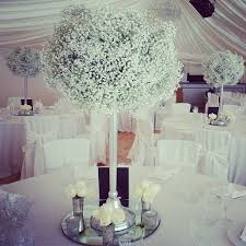 Gypsophila Wedding ArrangementsWedding CentrepiecesWedding Table DecorationsFlower