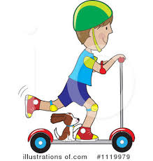 Royalty Free RF Scooter Clipart Illustration 1119979 By Maria Bell