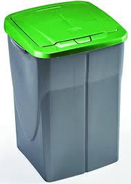 roller mülleimer ecobin silber grün 45 liter