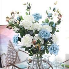 2018 2017 Silk Flower Wedding Bouquet Roses Dahlias Artificial