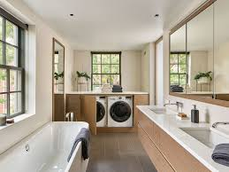 master bathroom layout with laundry image of bathroom and
