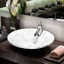 vasque à poser ovale en marbre contemporaine ninfea mgm