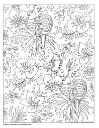 Creative Haven Textile Designs Coloring Book By Marjorie Sarnat Tropical