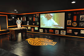 Decorating Ideas Harley Davidson Themed Theater 143706 Garage