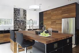 et cuisine armoires de cuisine moderne placage de noyer et acrylux noir simard