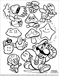 Coloring Page Super Mario Bros Video Games 206