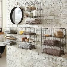 Rustic Industrial Bathroom Mirror by Creative Ideas To Maximize Bathroom With Bathroom Wall Shelving