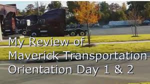 My Maverick Transportation Training Day 1 & 2 - YouTube
