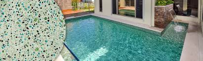 blue glass pebble company glass pebble swimming pool interior