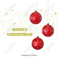 Transparent Red Christmas Ball Ornaments PNG Format Image With Size