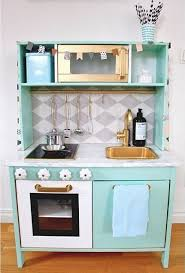 Ikea Hack Dining Room Hutch by Ikea Duktig Play Kitchen Makeover Mint Kid Rooms Pinterest