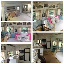 Collage Of Our 5th Wheel Renovation
