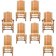Set Of 8 Louis XIV Style Dining Chairs