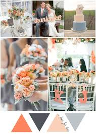 Peach And Grey Rustic Country Wedding Colour Scheme