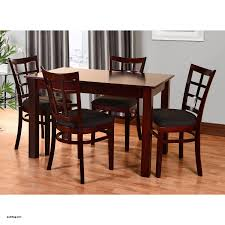 Mahogany Dining Table Amazing Lattice 5 Piece Wood Furniture Set Natural Brown