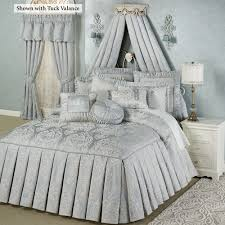 Couture Pale Blue Pleated Drop Grande Bedspread