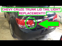 chevrolet cruze trunk lid light bulb and assembly replacement