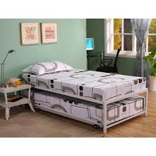 K&B Hi Riser Twin Bed With Pop Up Trundle Free Shipping Today