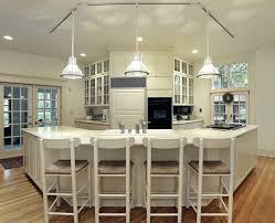 interior three pendant unique kitchen island lighting with glass