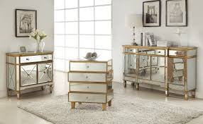 Mirrored Console Table with 3 Drawers and 4 Doors Walmart
