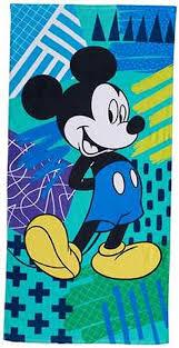 badezimmer disney mickey mouse towel 28x58 bathtowel