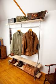 Coat Rack Hat Rail Clothes Vintage Style Pipework Industrial