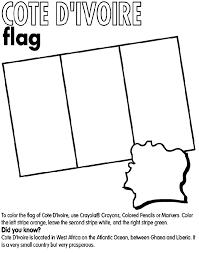 Cote DIvoire Coloring Page