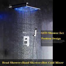 großhandel 8 10 12 led regen badezimmer dusche hahn zweigriff platz duschbatterie wand verchromt happinessmrs 240 23 auf de dhgate dhgate