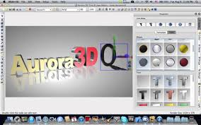 Make 3D Text Logo On Mac Aurora 3D Maker Animation YouTube