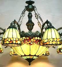 Stained Glass Chandelier Dining Room Light Online Shop Style Green Fixture Canada