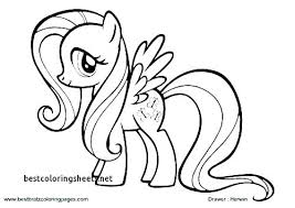 Coloring Pages Of Ponies Unicorn My Little Pony