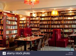 Dining Room And Library Stock Photos