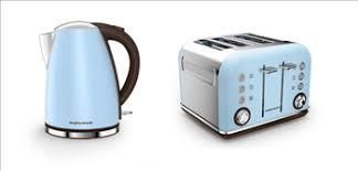 Morphy Richards Azure Blue Accents Jug Kettle 4 Slice Toaster Set
