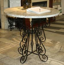 Wrought Iron Dining Table Base Awesome Dining Table Granite ...