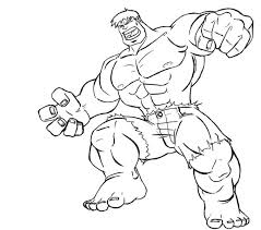 Incredible Hulk Coloring Pages Free Printable For Kids Drawing