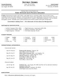 Pilot Entry Level Resume o pilot entry level