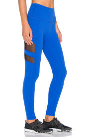 beyond yoga high waisted striped leggings in blue lyst