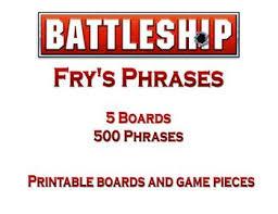 Battleship Board Game Frys Phrases
