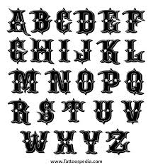 Tattoo Lettering Styles Alphabet