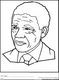 Remarkable Black History Coloring Pages Mandela With