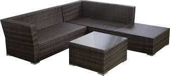 Outdoor Sectional Sofa Set by 4pc Wicker Rattan Outdoor Sectional Sofa Set
