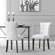 Upholstered Tufted Dining Chairs Atemraubend Nailhead Ding Room Chair Grey Tufted Covers Astonishing Chrome Chairs Set Of 4 Likable Table Clairborne Gray Of 2 Upc 08165579 Dorel Home Furnishings Amazoncom Bsd National Supplies Horizon Round Button Inspired Lachlan Velvet Or Linen Trim Details About Velvetpu Leather Modern Finish White With Upholstered Seats Bcp Elegant Design Contemporary Fniture American Eagle Ckh168w Pu Kitchen Teal Wood For Sale