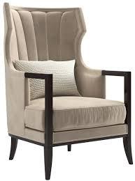 casa padrino luxus deco samt sessel beige dunkelbraun 70 x 75 x h 100 cm edler wohnzimmer sessel luxus qualität deco möbel